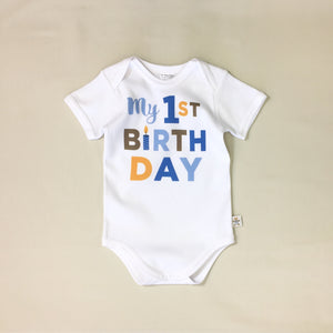 first birthday graphic onesie