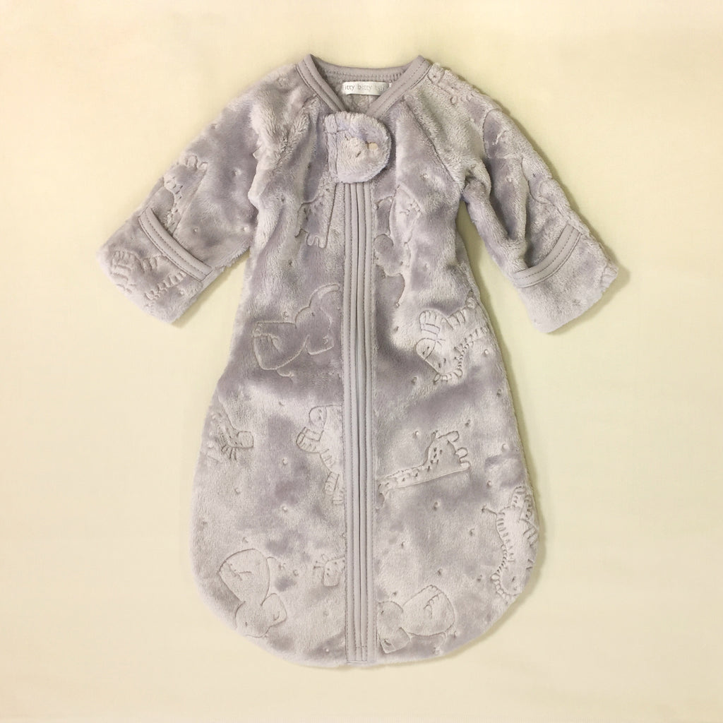 silver plush sleep sack