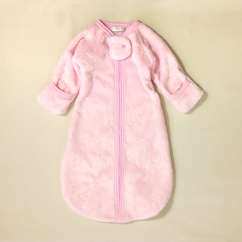 pink plush sleep sack