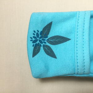 Turquoise koala wearable blanket summer cotton sleep sack fold over mitten cuff