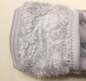 silver plush sleep sack  fold over mitten cuff