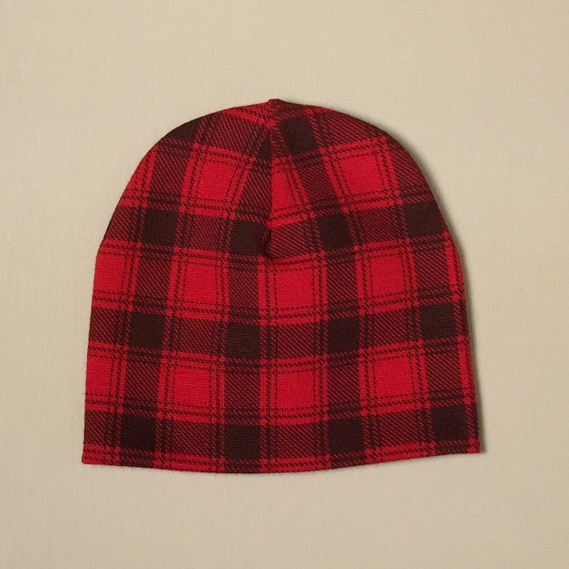 Wild One Red Buffalo Check Beanie