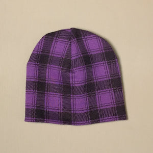 Wild One Purple Tartan Beanie