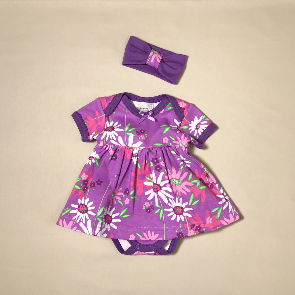 baby girl purple summer dress
