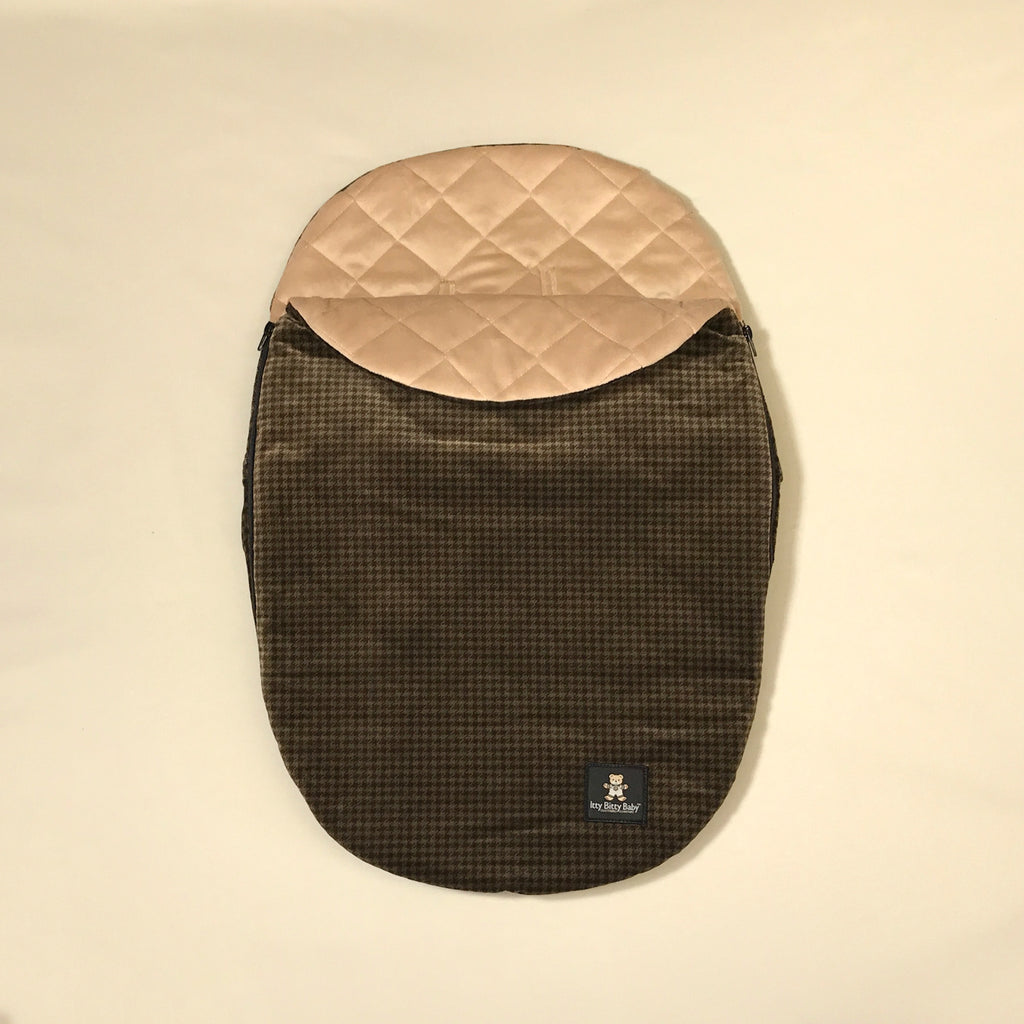 Houndstooth de Ball velvet car seat cocoon