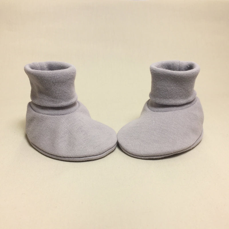 cotton silver baby boots