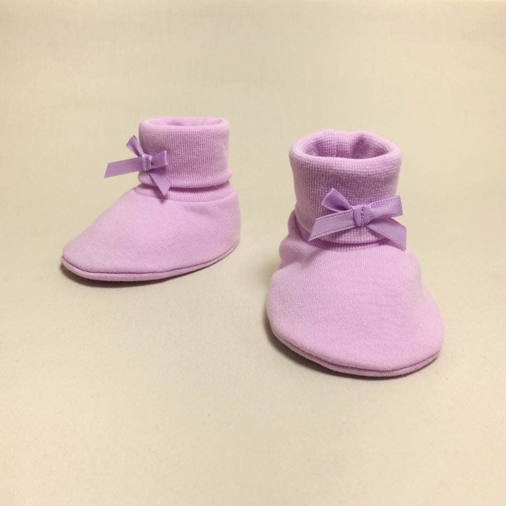 Baby Booties Solid Lilac