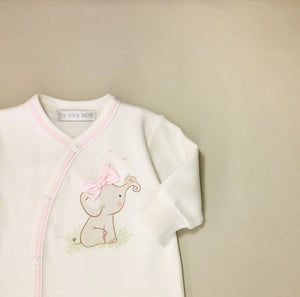 baby elephant and bunny rabbit on baby sleeper