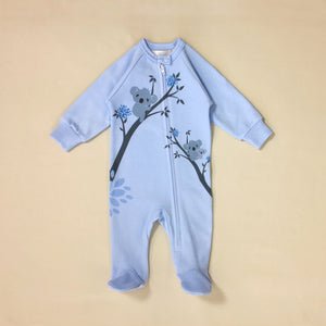 Blue Koala zipper footie baby clothes