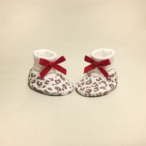 NICU Cheetah cotton baby booties