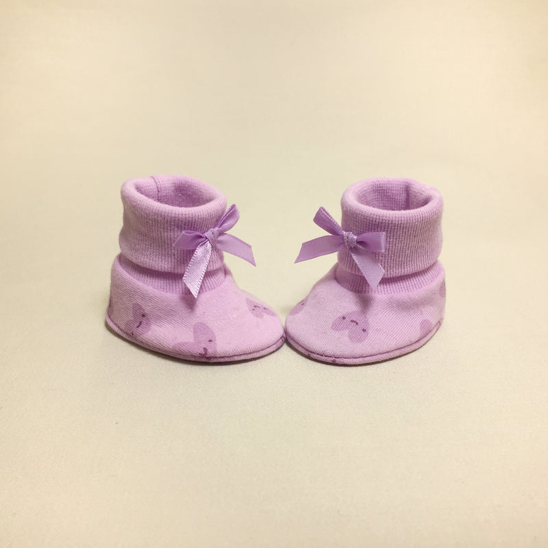 NICU Smile Hearts cotton preemie baby booties socks