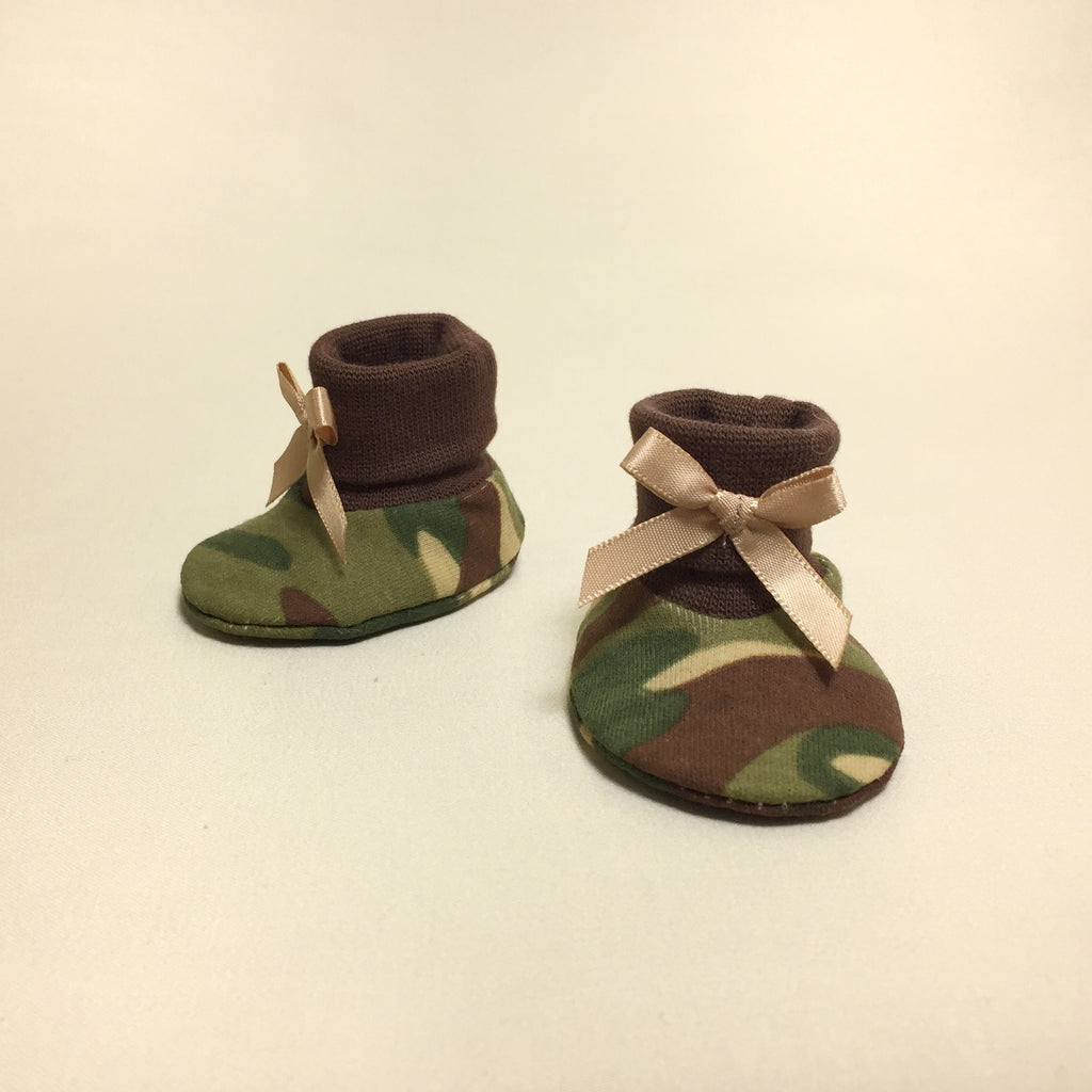NICU Camouflage cotton baby booties