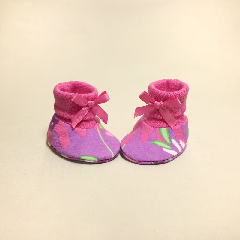 NICU Wildflower cotton preemie baby booties socks