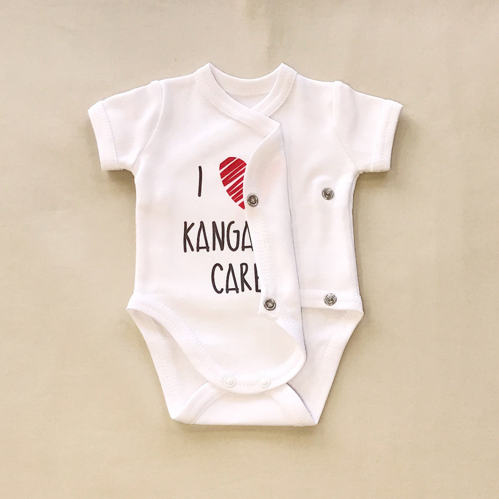 NICU Friendly Graphic Kimono Bodysuit Kangaroo Care Made in Canada
