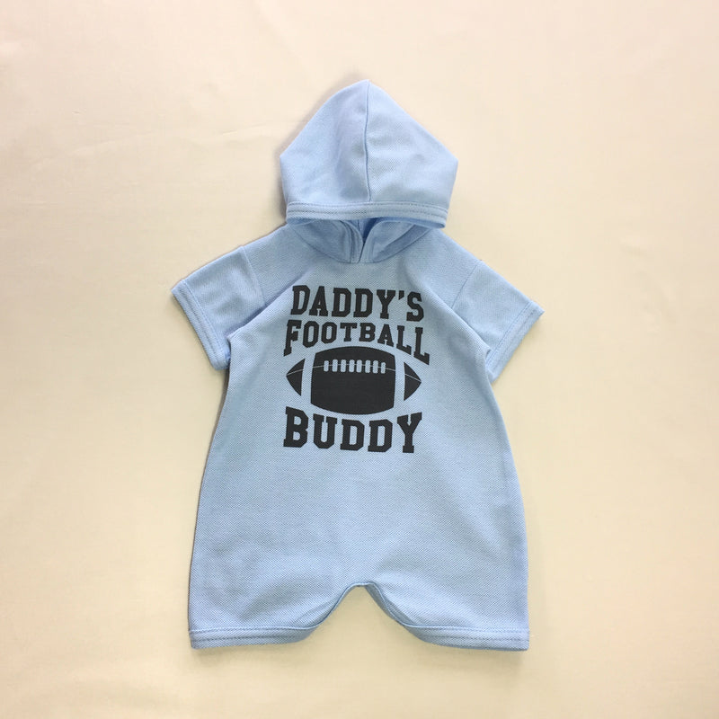 daddy's football romper for baby boy