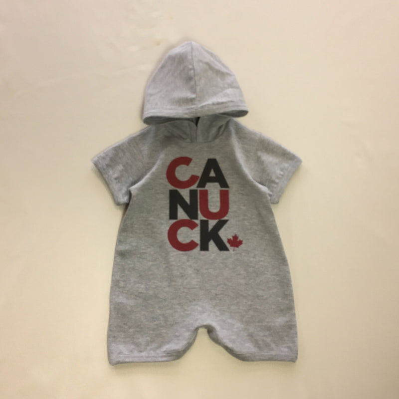 canuck baby romper