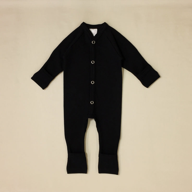 onyx cotton minimalist baby playsuit