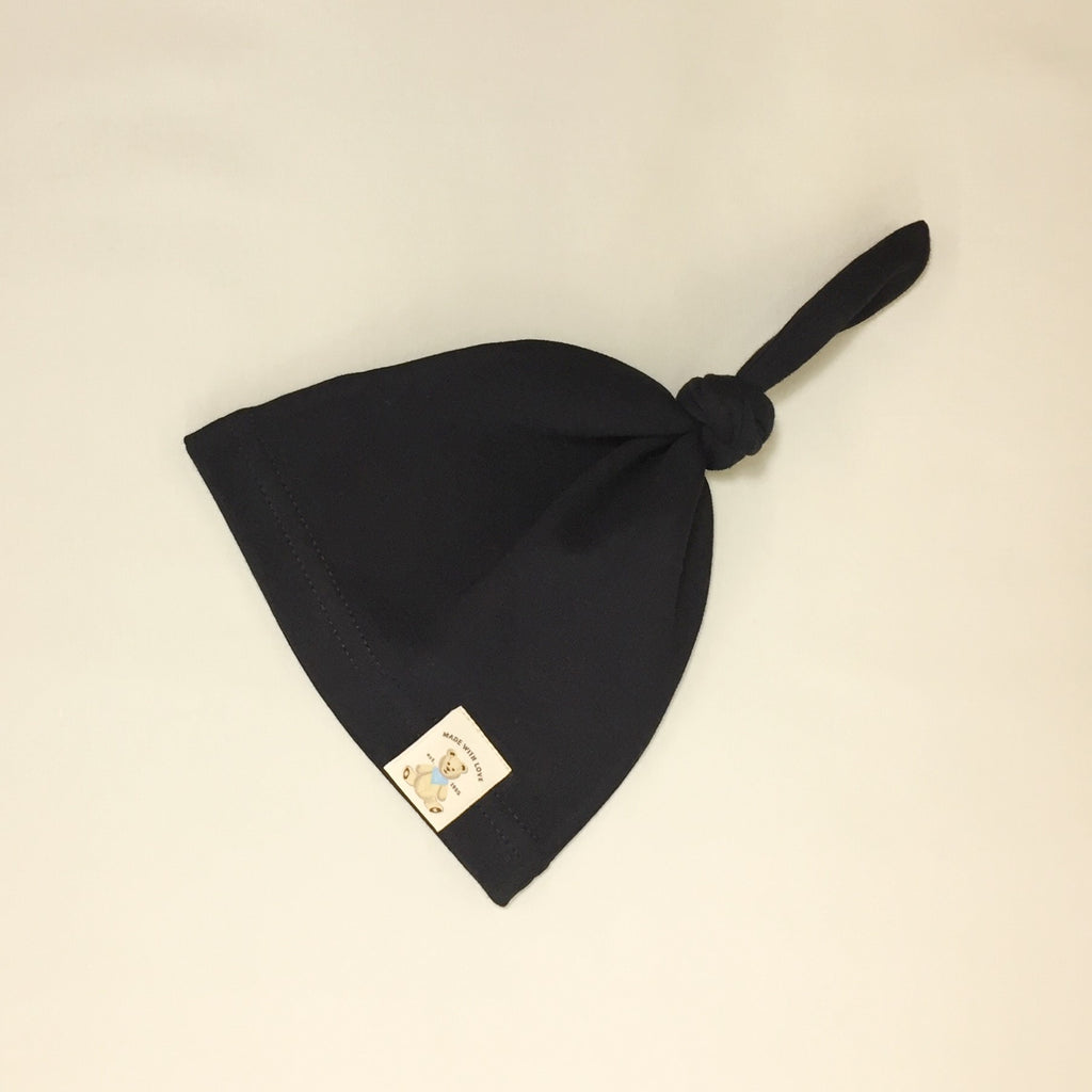 onyx cotton minimalist baby knot top hat