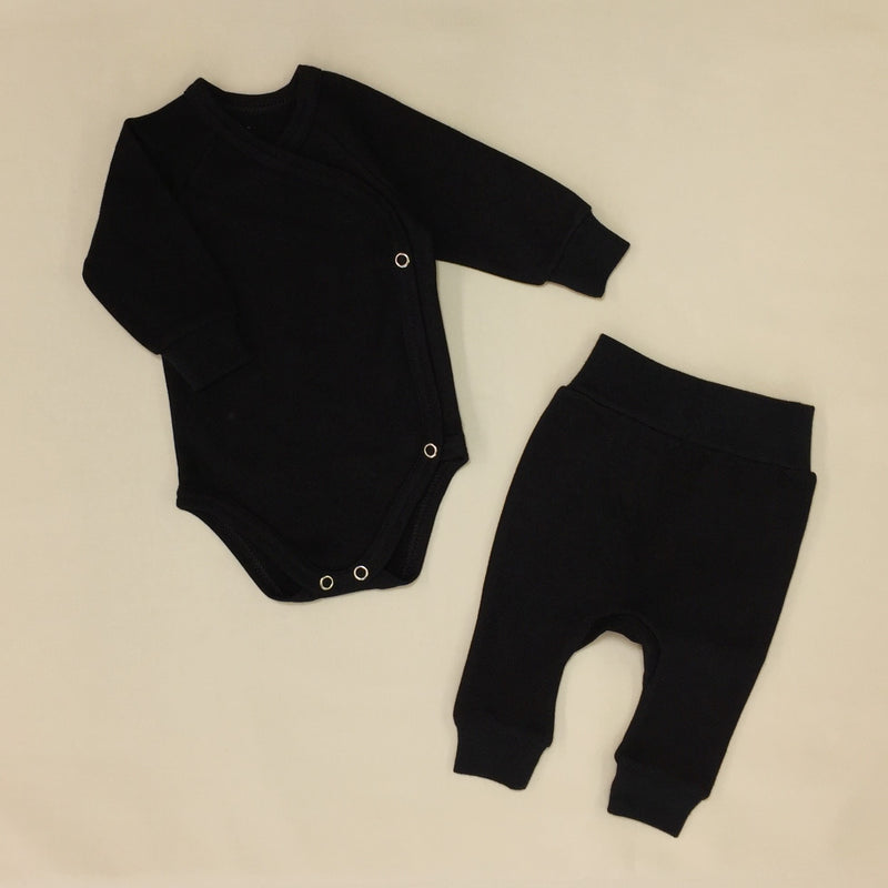 onyx kimono bodysuit and harem pant cotton baby clothes