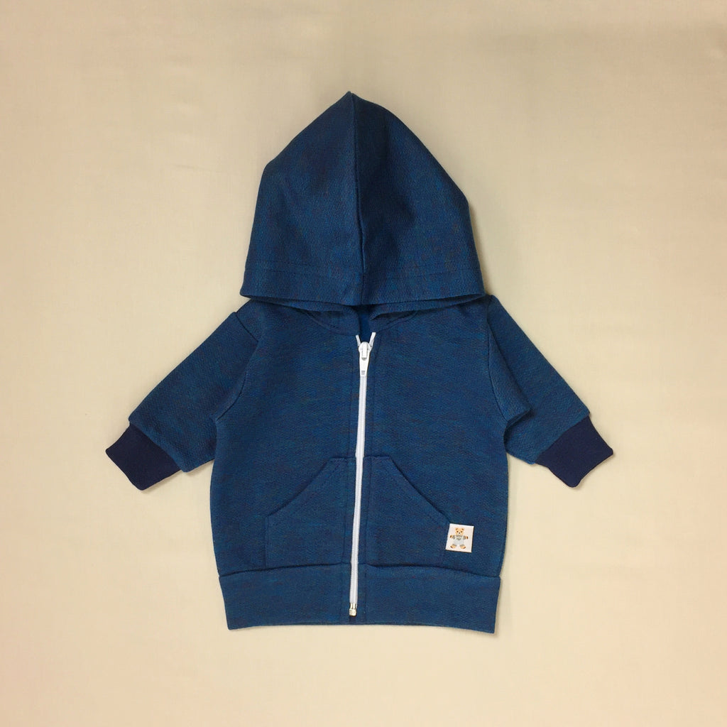 Teal Melange Hoodie Made in Canada