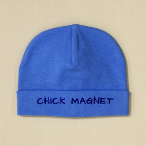 Chick Magnet embroidered hat made from soft & stretchy knit preemie baby