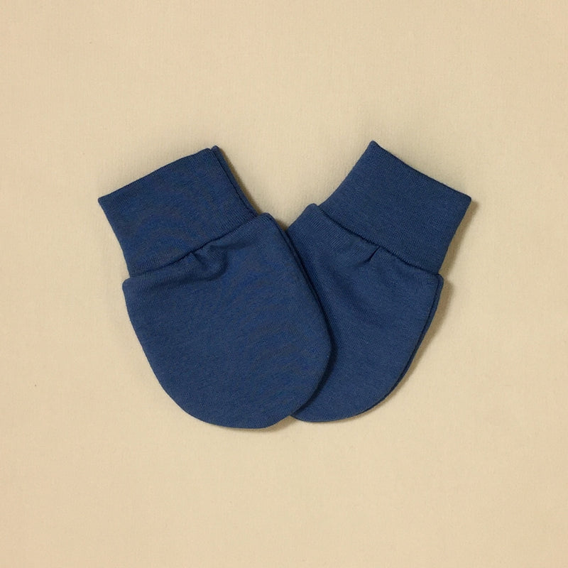 Bamboo baby scratch mittens Noble Blue