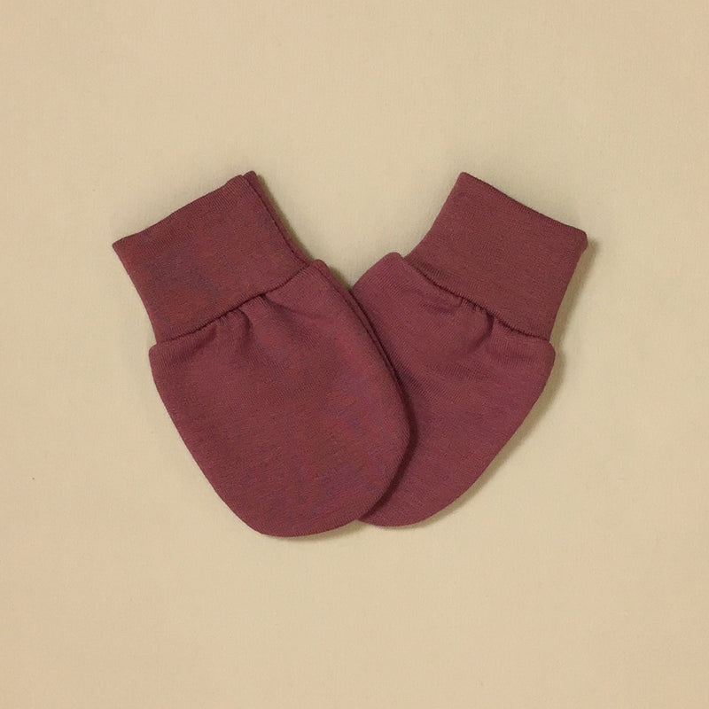 Bamboo baby scratch mittens Wild Currant