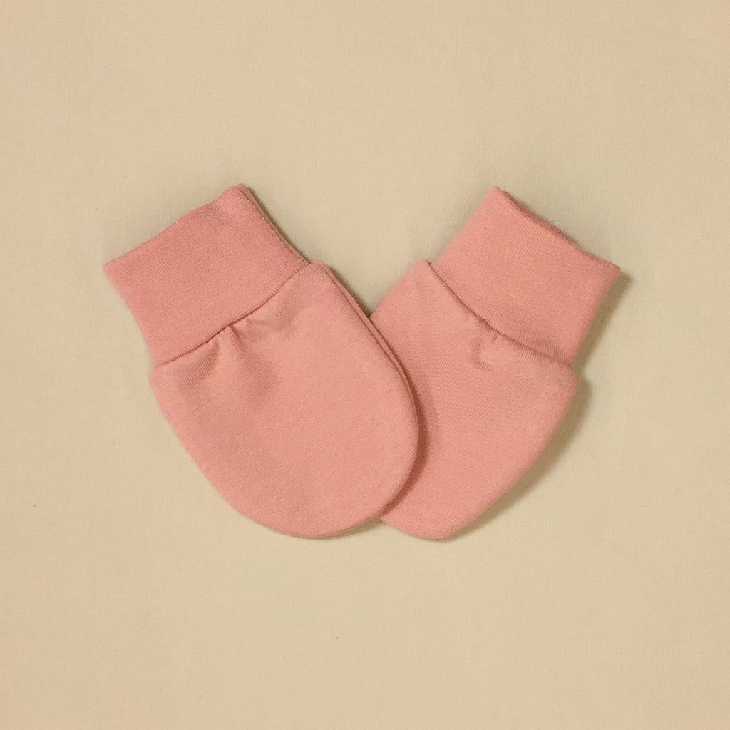Bamboo baby scratch mittens Barely Blush