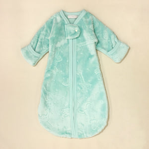 Jungle Plush Winter Warmth Sleep Sack Preemie Baby Turquoise