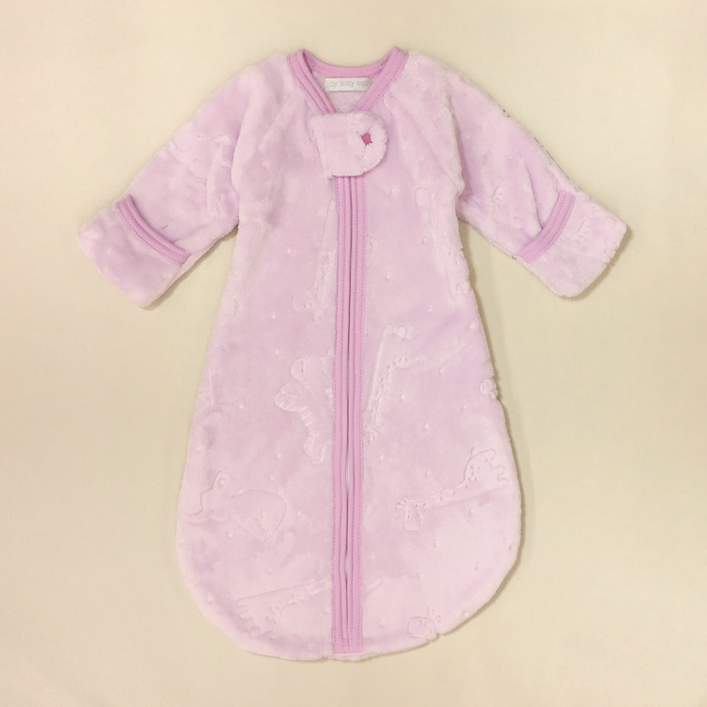 Jungle Plush Winter Warmth Sleep Sack Preemie Baby Lilac
