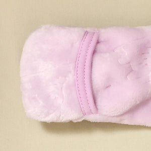 Jungle Plush Winter Warmth Sleep Sack Preemie Baby Lilac Fold Over Cuffs
