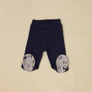 Navy Moose Layette Set Long Sleeve