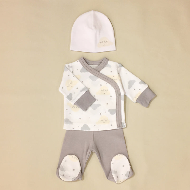 NICU Friendly preemie baby first outfit going home made in Canada