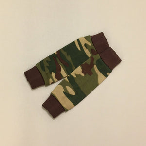 NICU Friendly Camouflage leg warmers preemie baby infant clothing