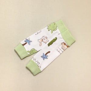 NICU Friendly Jungle leg warmers preemie baby infant clothing