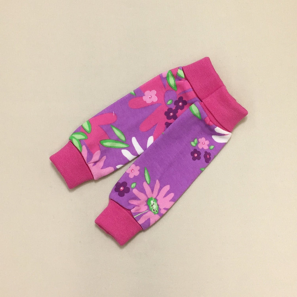 NICU Friendly Wild Flower leg warmers preemie baby infant clothing