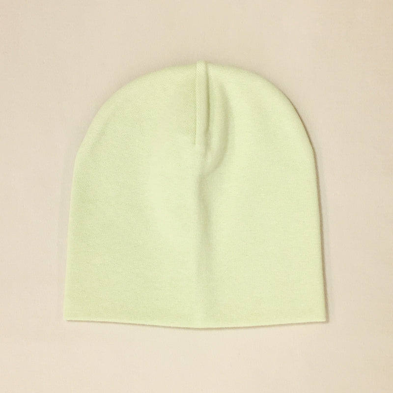 green cotton baby hat no brim