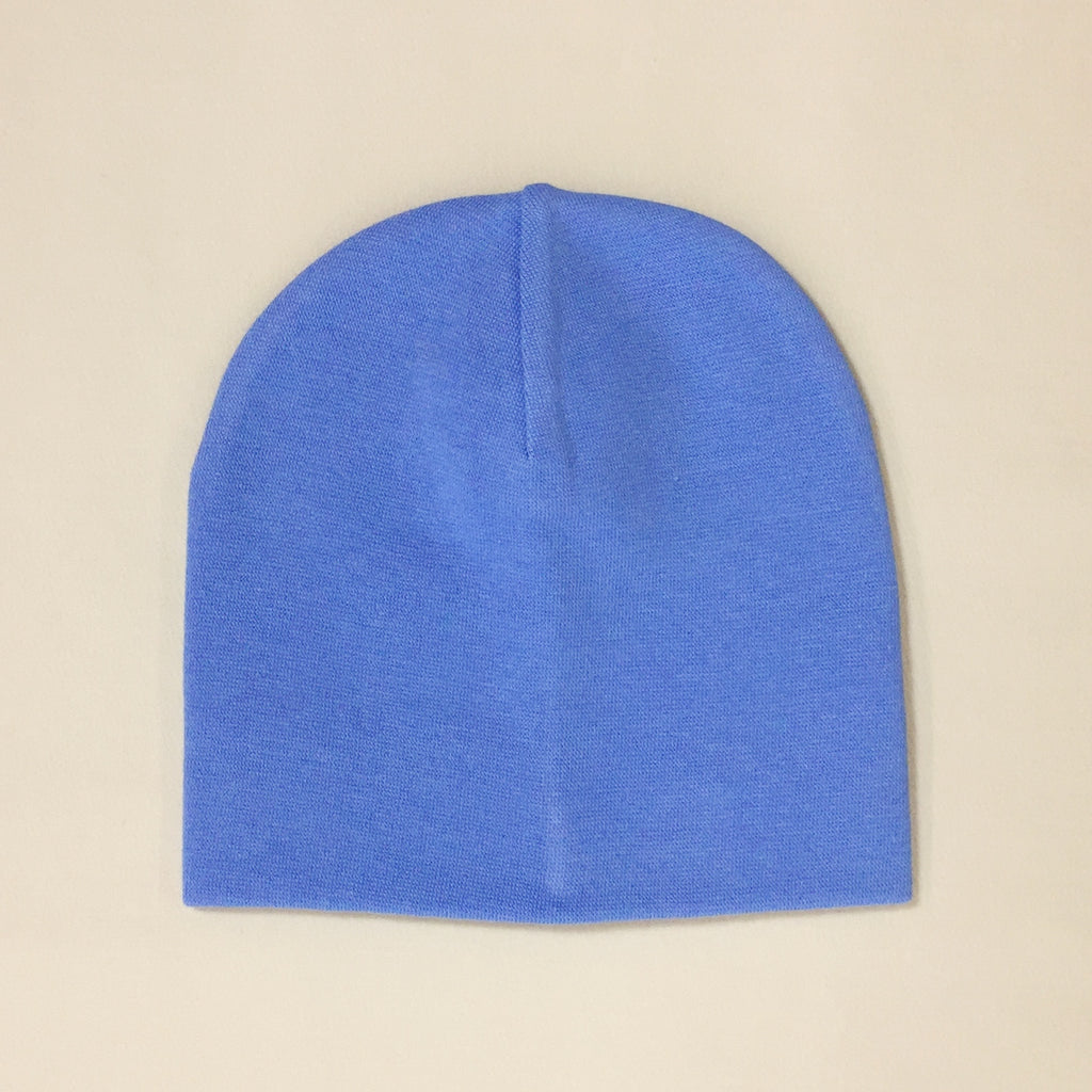 deep blue cotton baby hat no brim