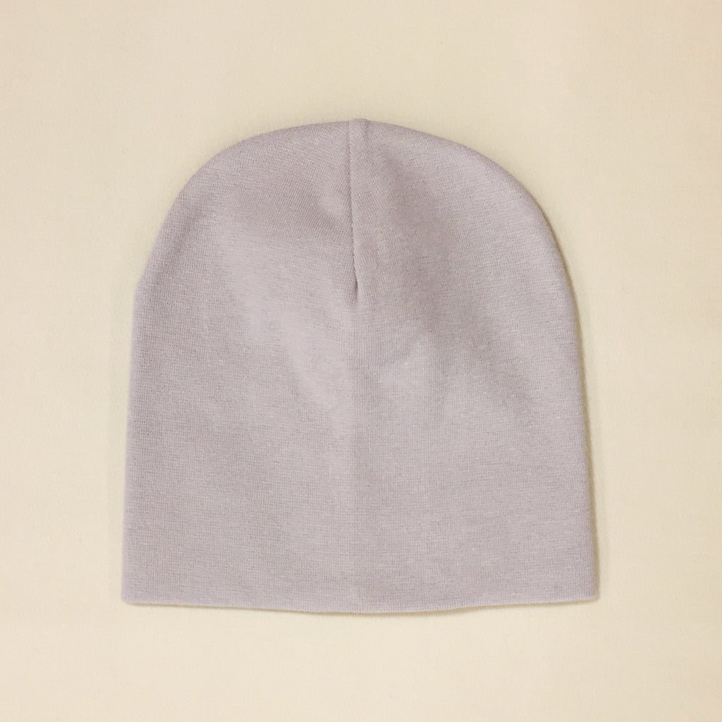 silver cotton baby hat no brim