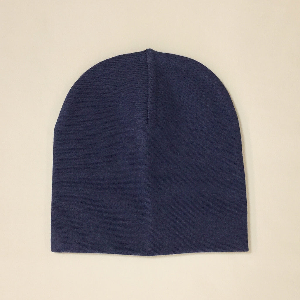 navy cotton baby hat no brim
