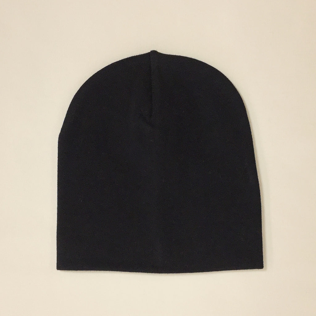black cotton baby hat no brim