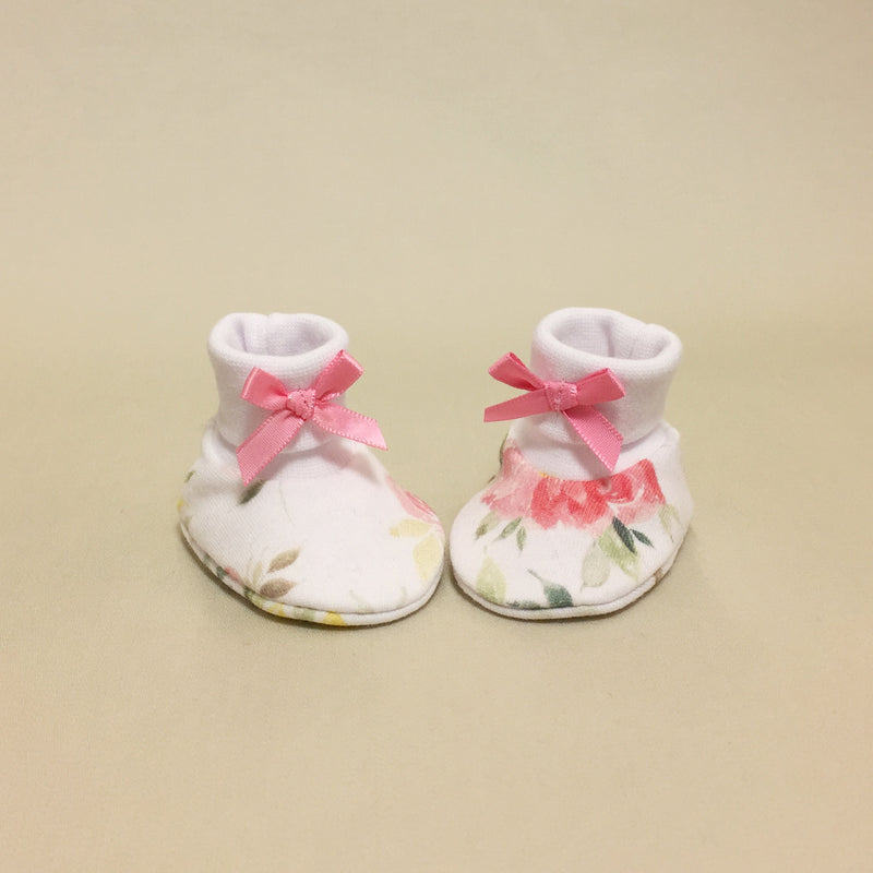 NICU Watercolor Floral cotton preemie baby booties socks