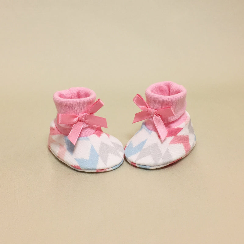 NICU Chevron Pink cotton preemie baby booties socks