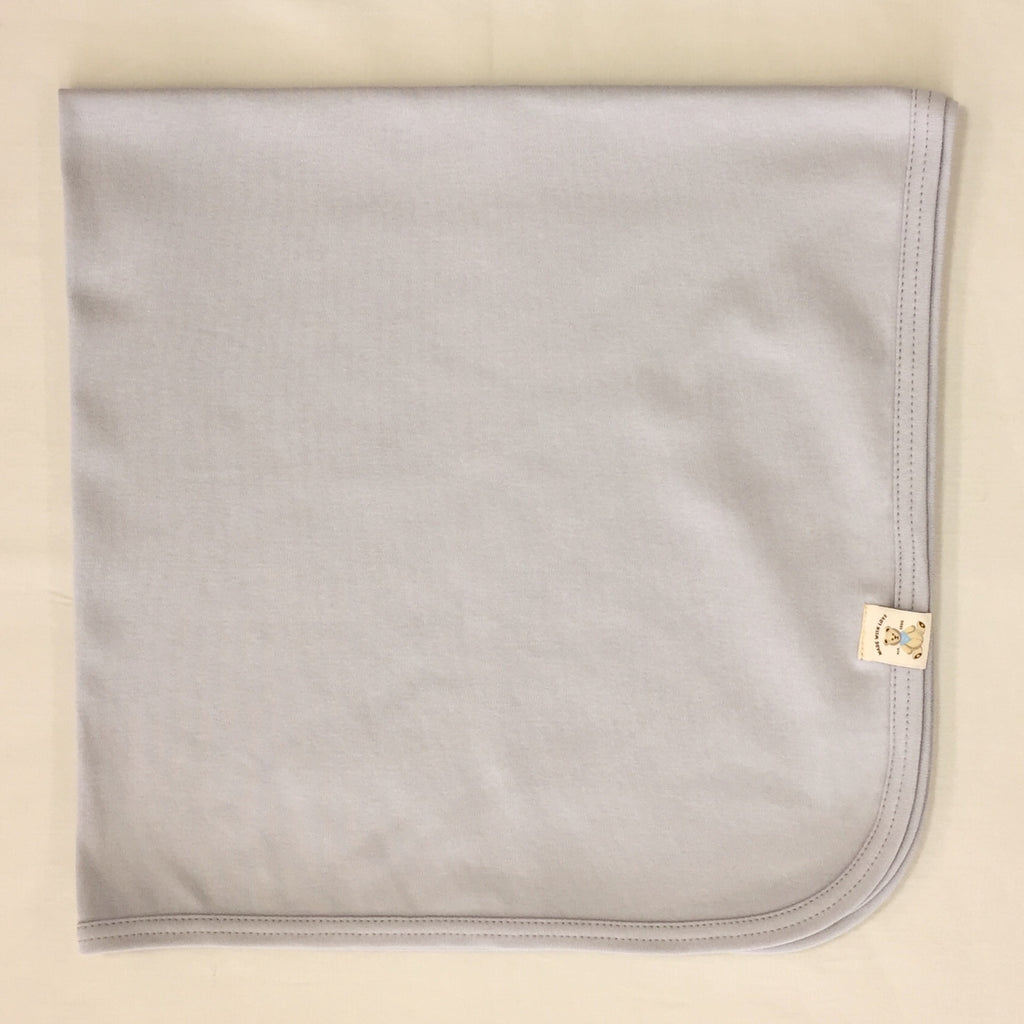 Minimalist cotton baby swaddle blanket in Granite Stone. Made in Canada