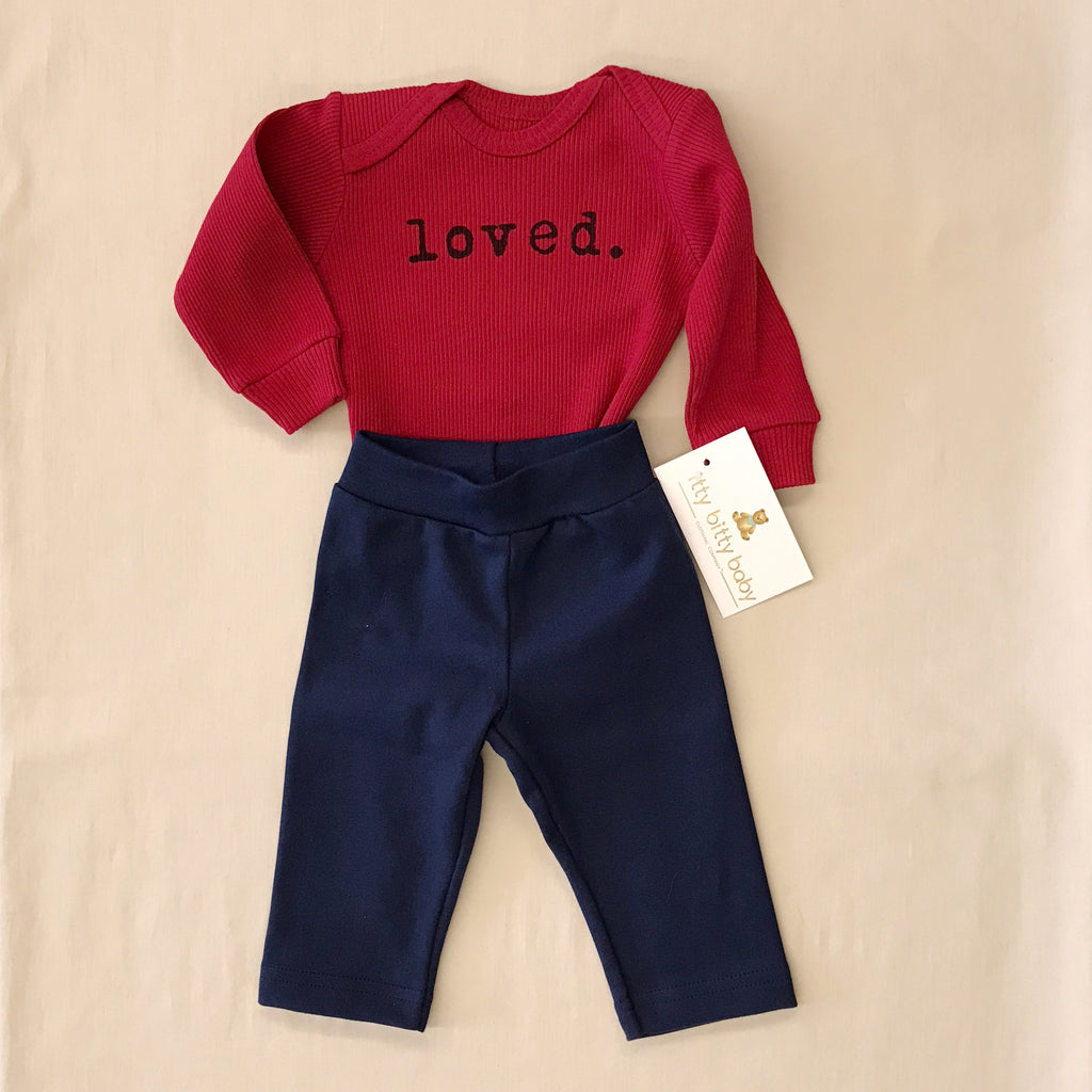 Loved Snap Baby Bodysuit & Pants Set