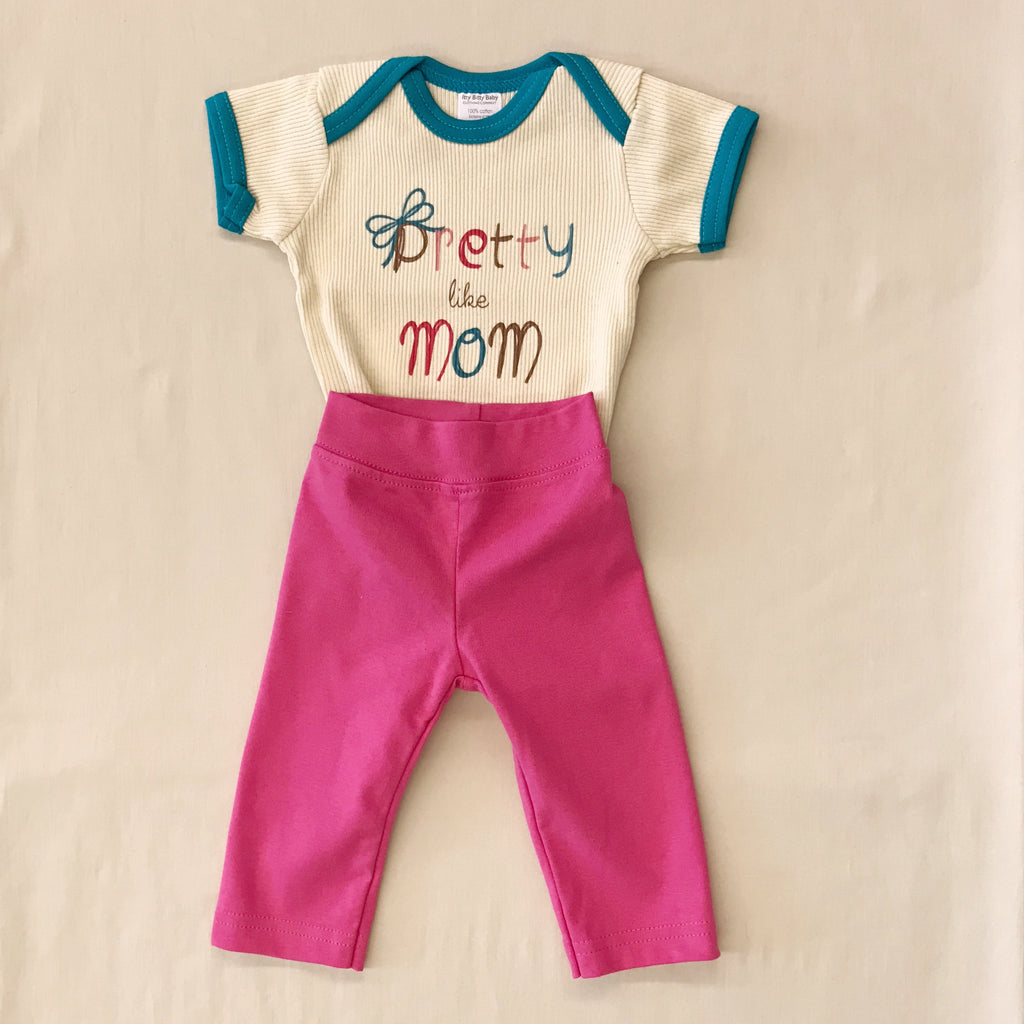 Pretty Like Mom Snap Bodysuit & Pants Set
