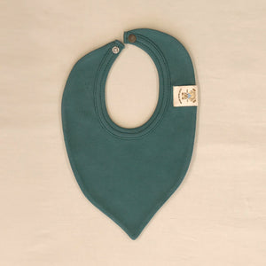 Trendy Minimalist Baby Bandana Bib in Spruce Forest. Made in Canada