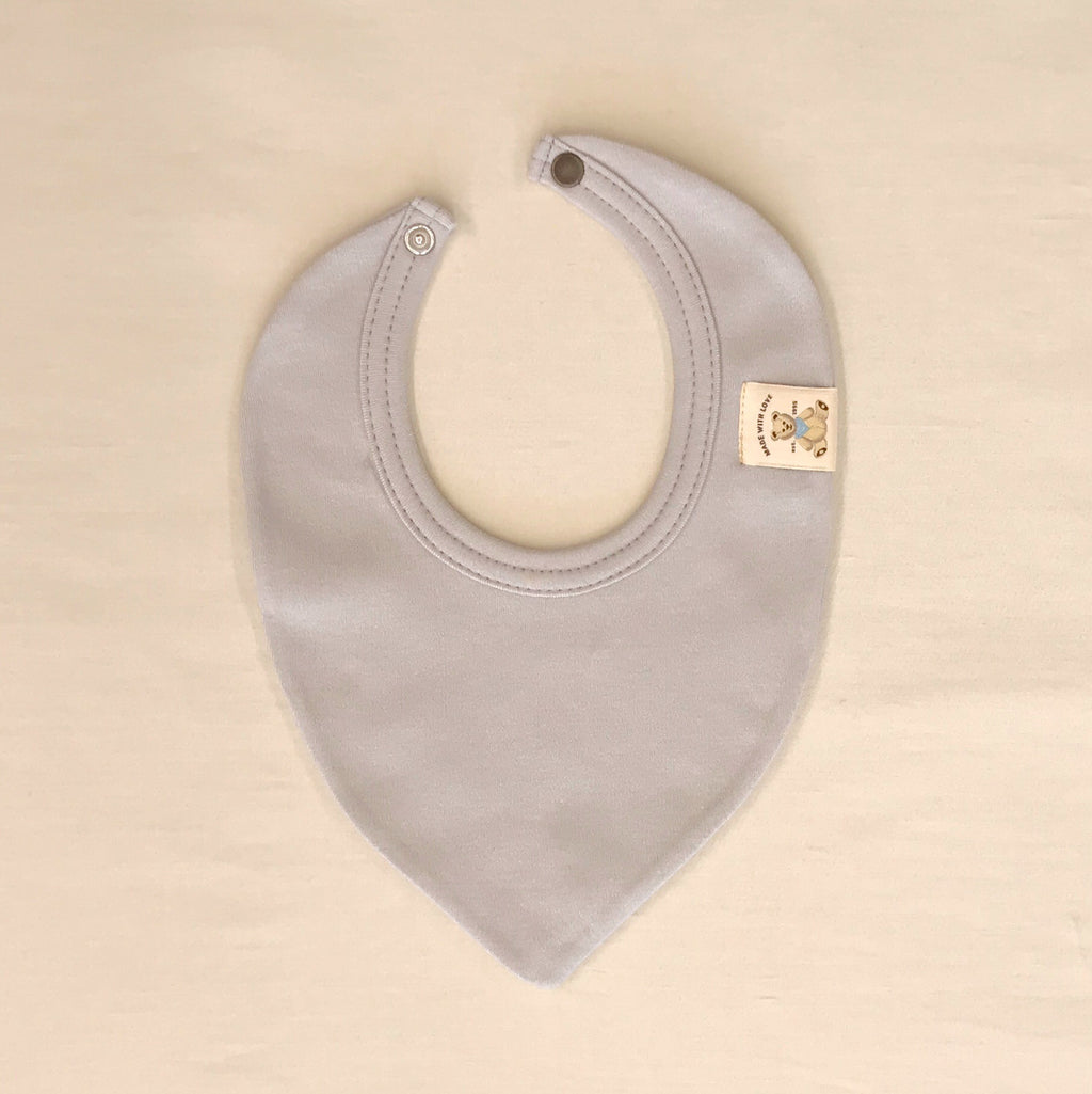 Trendy Minimalist Baby Bandana Bib in Granite Stone. Made in Canada