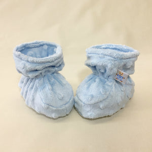 Minky Baby Booties Blue Made in Canada