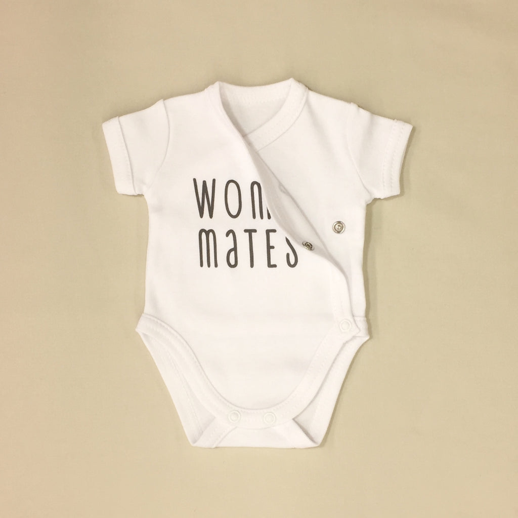 NICU Friendly Graphic Kimono Bodysuit Wombmates Made in Canada
